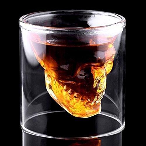 lzn Totenkopf Whiskyglas Set Für Bar Party Magic Cool Clear Skull Head Schnapsglas Kreative Party...