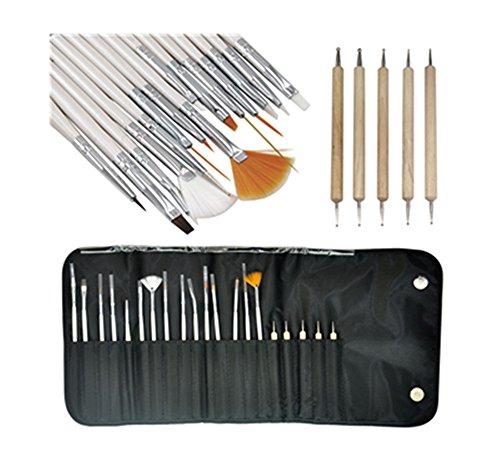Nail Art Accessoires Professionnel, Kolylong 20PCS Design Peinture Pen Brush Set Salon Manucure Outil Bricolage