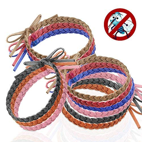 Austor 12 Stück Mückenschutz Armband Anti Mücken Insekte Armband Natürlicher Insektenschutz ohne Diethyltoluamid