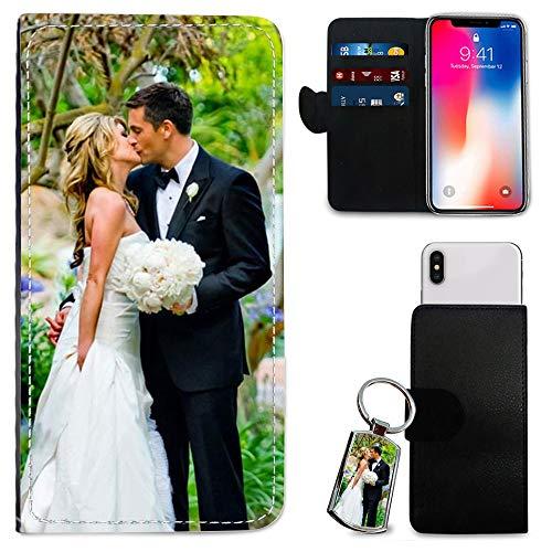 i-Tronixs Schutzhülle/Brieftaschen-Hülle für Mobiltelefone (15,2 cm / 15,2 cm), personalisierbar, mit Foto & Chrom-Schlüsselanhänger, Doogee S50 (5.7