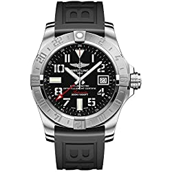 Breitling Men Analogue Watch with Black Dial Analogue