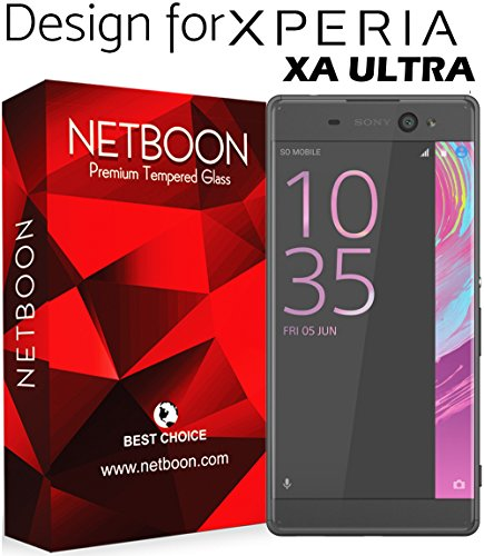 NETBOON® Branded Sony Xperia XA Ultra Tempered Glass Screen Protector 3D Full Edge Cover Ultra 0.2 mm Thin High Definition HD Clear View Scratch Proof Protective Flexible Glass Guard - Pure Clear