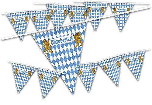 TK Gruppe Timo Klingler Oktoberfestdeko XXL Banner Wimpel 500 cm Wimpelkette Wimpel Wiesen Wiesn Deko Dekoration Oktoberfest Cannstatter Wasen