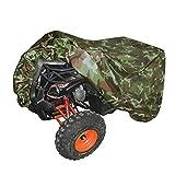 Suntime Quad ATV Abdeckung Aus Reißfestem 190T Gewebe UV Schutz Durable Motorradgarage Lagerung Gegen Winter Schnee Regen Sonne und Staub für Honda Polaris Yamaha Suzuki (Grün & XL)