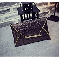 BRZM Glamour and Charm Fashion Ladies Banquet Party Sequin Envelope Clutch (Champagne Color)