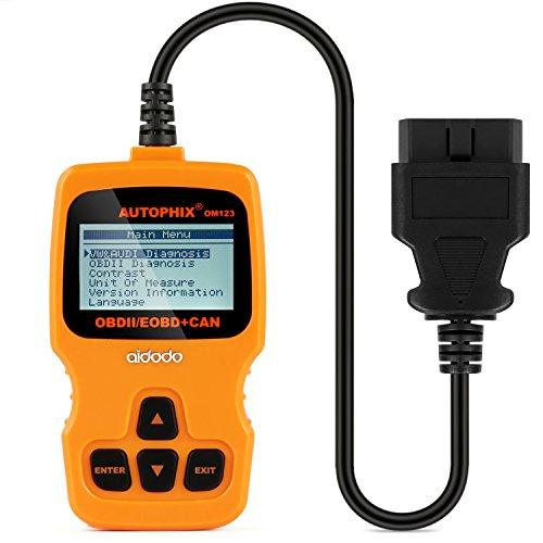 Preisvergleich Produktbild OBD2 Diagnose aidodo Diagnose Auto OBD II Auto Diagnose Scanner Werkzeug OBD Code Reader OM123 Lea für alle Fahrzeuge nach 1996-naranja