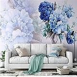 YUANLINGWEI Wandbildtapetenbetriebs-Blumenmuster Der Nordischen Art Wohnzimmer-Sofa-Hintergrundwand Des Kundenspezifischen Modernen Fototapeten 3D Fototapete,270Cm (H) X 350Cm (W)