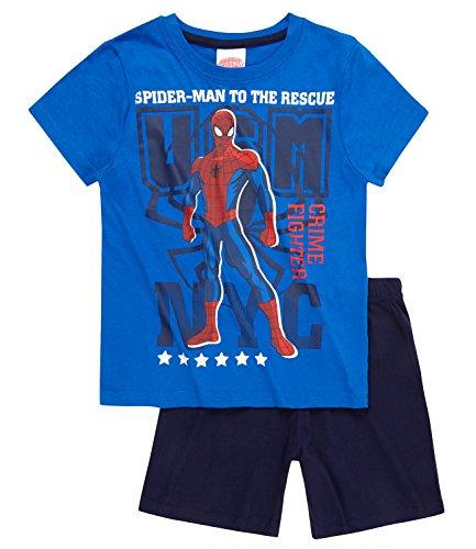 Spiderman Chicos Pijama mangas cortas - Azul - 140