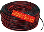 Crispy Deals 50 Meter Red&Black Dual Line Speaker Cable Roll for Home Theater and Audio Systems