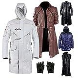 e Genius 2019 Kostüm Devill May Cry 5 (DMC) Echtleder Mantel Kollektionen Gr. X-Small, Brown Dante Real Leather Coat