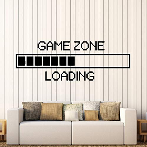 Wuyyii Vinyl Wandtattoo Spiel Zone Laden Wandaufkleber Gamer Computer Wandbild Spiel Zimmerdekoration Spiel Laden Aufkleber 25X71 Cm (Halloween Computer-spiele Kindergarten)