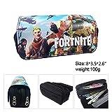 Fortnite Federmäppchen, 3D-Druck Muster große Kapazität Schreibwaren Bleistift Tasche Planentasche, Zwei große Tasche Jungs, Mädchen, Kinder