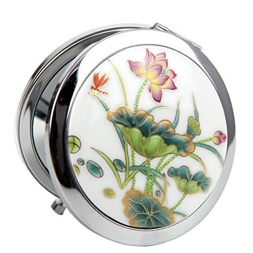 Leisial Taschenspiegel Mini Kosmetikspiegel Double sided Make-up Spiegel mit 1x/5x Vergrößerung...