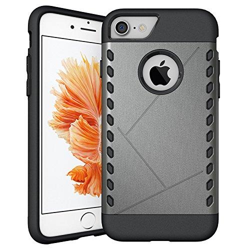iProtect Apple iPhone 7, iPhone 8 Hülle Slim Hard Case Armor Shockproof Schutzhülle in grau grau.