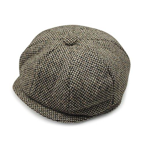 loisirs automne bouchon octogonal/Beret en laine chaud automne/hiver/La version coréenne de PAC/chapeau vintage marée P