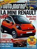 AUTO JOURNAL (L') [No 476] du 06/11/1997 - la mini renault - toutes les photos...