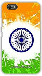 Crazy Beta INDIAN RAISING FLAG 3D DESIGNS Printed Back Cover For Lenovo Vibe C