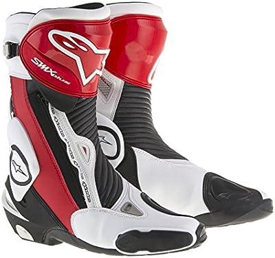 Motocicleta Alpinestars SMX Plus botas–negro blanco rojo Reino Unido