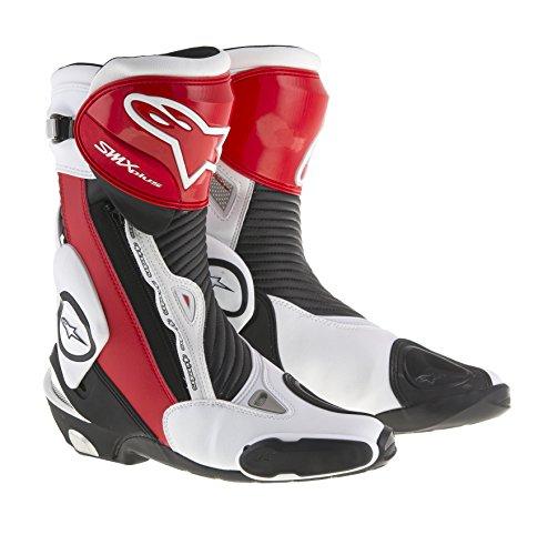 Alpinestars Smx-Plus - Stivali da moto, numero 46, colore: Nero/Rosso/Bianco