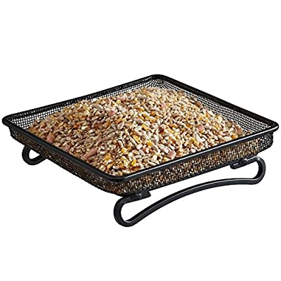 Gardman Wild Bird Feeder, Metal Ground Feeding Tray for Nuts & Sunflower Seeds by Happy Beaks from Happy Beaks