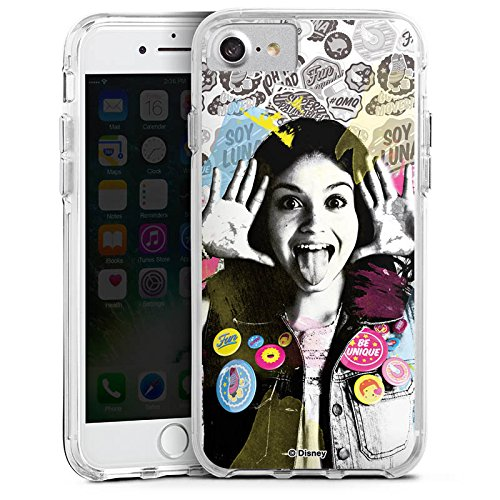 Apple iPhone 5s Bumper Hülle Bumper Case Schutzhülle Soy Luna Disney Fanartikel Geschenke Bumper Case transparent