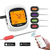 Picture Of Bluetooth Meat Thermometer for Grilling, Wireless Remote Thermometer Digital Cooking Thermometer with 4 Probes, Alarm Monitor for BBQ Smoker Oven Kitchen,Support IOS , Android