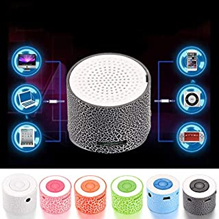 Befied SmartLife - Mini Super Portable Bluetooth Speaker Music Box | LED Speakers Wireless bluetooth speaker with TF Port |Support APP (Black)