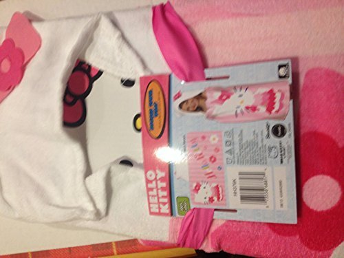 Sanrio Hello Kitty Hooded Towel Wrap HH376K by Franco Manufacturing Hello Kitty Wrap