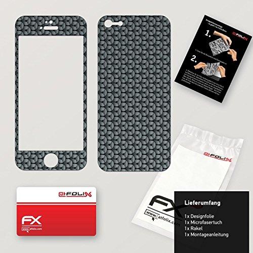 "Skin Apple iPhone 5 ""FX-Camouflage-Black"" Sticker Autocollant FX-Honeycomb-Grey"