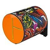"""Remo 832394 Rl-0708-09-Ob Rhythm Log Drum 8"""" Foglia Tropicale, Arancio/Blu"""