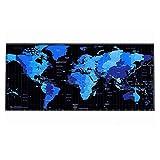 AURORBOY Weltkarte-Mausunterlage Große Mauspad-Schreibtisch-Matten Große Mauspads Spiel-Wolldecke XlFürBüroarbeit/Spiel