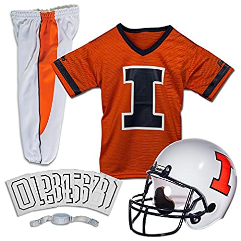 Franklin Sports NCAA Illinois Fighting Illini Deluxe Youth Team Uniform Set, Small