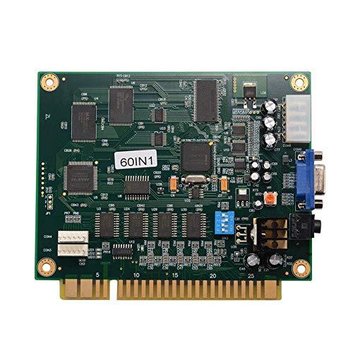 Soulitem 60 in 1 Klassische Videospielkarte CGA/VGA Ausgang PCB Motherboard für Jamma (60 In Einem Arcade)