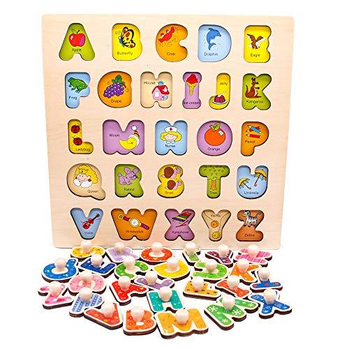 Puzzles Infantiles de Madera Niños 2 3 4 años,...
