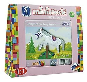 Ministeck 32587-Pony Springer, steckplatte, Accesorios, Aprox. 300de Piezas