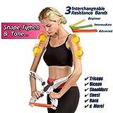Wonder Arms, Máquinas de brazo, Antebrazo Ejercitador Muñeca Ejercitador equipo con 3 bandas de resistencia, compacto y portátil armas máquina de ejercicio color blanco