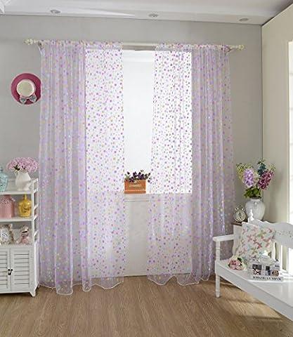 Generic 100cm x 200cm Voile Organza Panel Drapieren Vorhang Wohnzimmer Fenster Dekoration - Lila