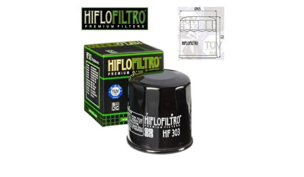 FILTRO OLIO MOTORE HIFLO HF303 PER YAMAHA ATV YFM660 FR-C Grizzly 660 Limited//03