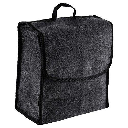 Kofferraumtasche, Nadelfilz 29x 15 x 29cm, Grau, Klettverschluss