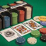 Tobar - 21974 - Set de jeu de poker avec jetons, cartes et tapis