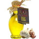 Knoblauchöl, Knoblauch - Öl aus Nativem, Extra Vergin Olivenöl, Griechenland. Ungefiltert. Kaltgepresst. Traditionelle Herstellung im Familienbetrieb. AMPHORE IRGIZIA - Flasche 250ml.