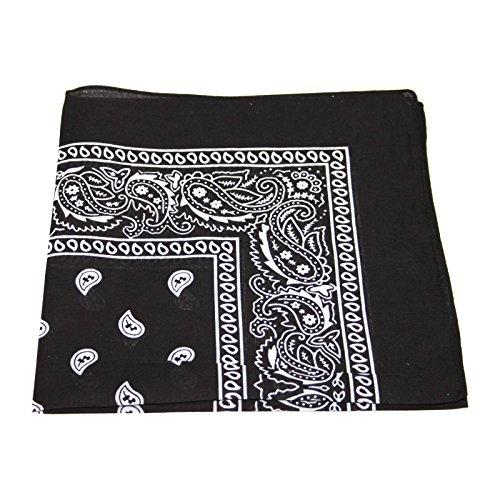 mens-womens-bandana-head-or-neck-scarves-paisley-pattern-100-cotton-black