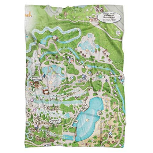 Queen of Cases Blizzard Beach Map Fleece Blanket - Large Fleece Blanket 80x60in - Fleece Decke
