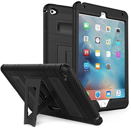 Rugged Defender Case mit integrierter CLEAR Displayschutzfolie für iPad Mini 4schwarz - 4 Defender Case