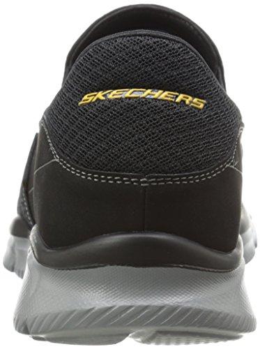 Skechers Herren Equalizer Persistent Low-Top Schwarz (Bkgy)