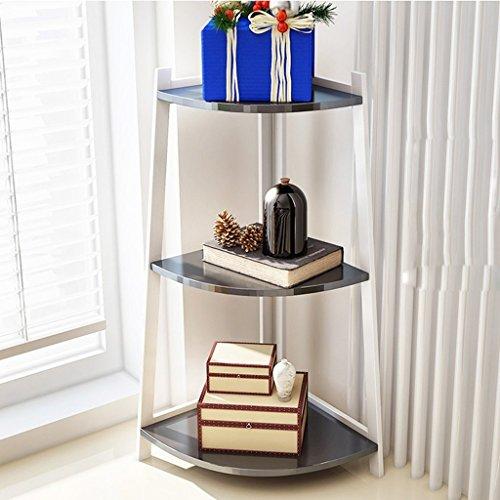 GRY Einfache moderne Partition Regal Wohnzimmer mehrere Ebenen Ecke Bücherregal Schlafzimmer Landing Frame Flower Racks,79 cm,Schwarz -