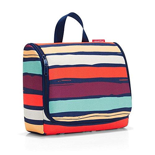 reisenthel toiletbag XL artist stripes Maße: 28 x 25 x 10 cm / Maße: 28 x 59 x 9 cm expanded / Volumen: 4 l