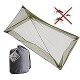 Tofree Camping Moskitonetz für 1 Person, Outdoor Camping Versorgung Moskitonetz Mückenschutz Net Camping Bett Net mit 4 Unterirdischen Nägeln
