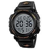 SKMEI Digital Black Dial Men's Watch-1258 Gold