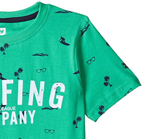 612 League Boy's Plain Regular fit T-Shirt (ILS19I15015_Green_4-5 Years)